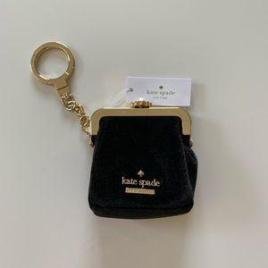 Kate Spade Velvet Coin Purse Keychain
